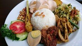 Nasi Campur Бали Индонезия Стоковое Фото