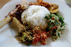 Nasi Campur Бали стоковые фото