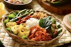 Nasi Campur Bali Royalty-vrije Stock Foto's