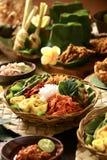 Nasi Campur Bali Stock Afbeeldingen