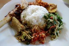 Nasi Campur Bali Fotos de Stock