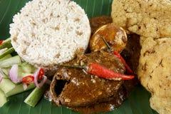 Nasi dagang, a popular Malaysian meal on the east coast of the Malaysian Peninsular.  Royalty Free Stock Photo