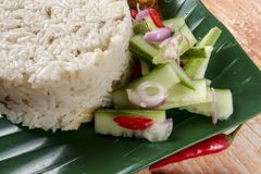 Nasi dagang, a popular Malaysian meal on the east coast of the Malaysian Peninsular.  Royalty Free Stock Image