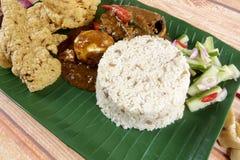 Nasi dagang, a popular Malaysian meal on the east coast of the Malaysian Peninsular.  Stock Image