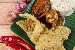 Nasi dagang, a popular Malaysian meal on the east coast of the Malaysian Peninsular.  Royalty Free Stock Photos