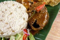 Nasi dagang, a popular Malaysian meal on the east coast of the Malaysian Peninsular.  Stock Photos