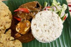 Nasi dagang, a popular Malaysian meal on the east coast of the Malaysian Peninsular.  Stock Photography