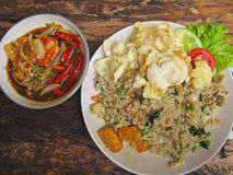 Nasi Goreng with chili tofu Royalty Free Stock Photo