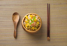 Nasi Goreng indones Fried Rice Royaltyfria Foton