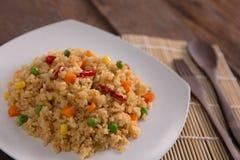 Nasi goreng lub smażący ryż fotografia royalty free