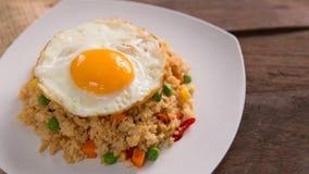 Nasi goreng lub smażący ryż obrazy royalty free