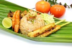 Nasi Goreng Satay Lilit Stock Foto