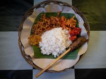 The nasi jinggo royalty free stock photos