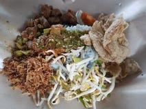 Nasi Kerabu普遍的马来西亚早餐  图库摄影