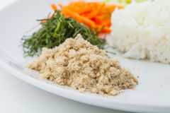 Nasi kerabu or kao yum, Southen Thai-Style rice Stock Image