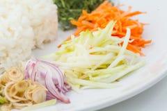 Nasi kerabu or kao yum, Southen Thai-Style rice Royalty Free Stock Photo