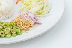 Nasi kerabu or kao yum, Southen Thai-Style rice Royalty Free Stock Photography