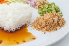 Nasi kerabu or kao yum, Southen Thai-Style rice Royalty Free Stock Photos