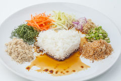 Nasi kerabu or kao yum, Southen Thai-Style rice Royalty Free Stock Images