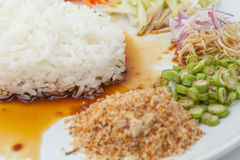 Nasi kerabu or kao yum, Southen Thai-Style rice Royalty Free Stock Image