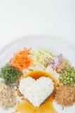 Nasi kerabu or kao yum, Southen Thai-Style rice Stock Photography