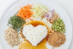 Nasi kerabu or kao yum, Southen Thai-Style rice Stock Photos