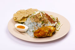 Nasi kerabu malaysian food Royalty Free Stock Image