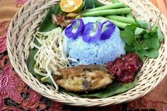 Nasi Kerabu - Maleise Traditionele Keuken Royalty-vrije Stock Afbeelding