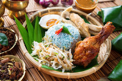 Nasi kerabu or nasi ulam Stock Images