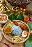 Nasi Kerabu , a traditional east coast blue rice, Famous in stat Stock Images