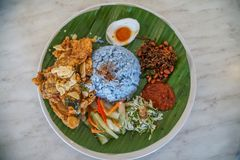 Nasi Kerabu - Traditional Malaysian Dish stock images