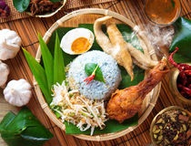 Nasi kerabu Stock Image
