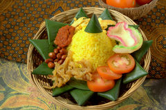 Nasi Kuning Imagenes de archivo