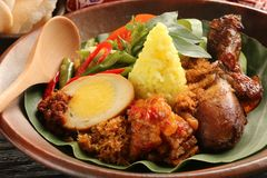 Nasi Kuning Stockfotografie
