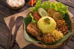 Nasi Kuning Gula ris för indones fotografering för bildbyråer