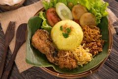 Nasi Kuning Gula ris för indones royaltyfria foton