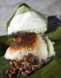 NASI LEMAK. Malaysian traditional food coconut milk rice nasi lemak Royalty Free Stock Photos