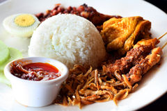 азиатское nasi lemak Стоковое Фото