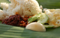 Nasi Lemak 2. Popular Malaysia food rice with coconut milk and groundnuts Stock Images
