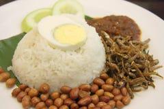 Nasi lemak Stock Image