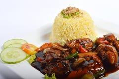 Nasi lemak, Asian traditional rice meal Stock Photos