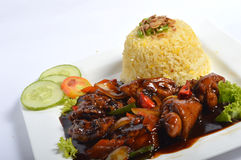 Nasi lemak, Asian traditional rice meal Royalty Free Stock Image