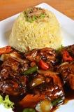 Nasi lemak, Asian traditional rice meal Stock Image