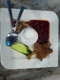 Nasi Lemak Ayam kampung stock photos