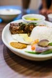 Nasi Lemak Ayam Rendang Stock Photography