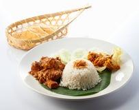 Nasi Lemak Chicken Rendang Fotos de archivo libres de regalías
