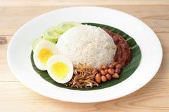 Nasi Lemak, cocina malasia fotos de archivo libres de regalías