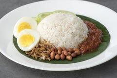 Nasi Lemak, cocina malasia fotografía de archivo