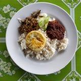 Nasi lemak. Or coconut rice Stock Photography