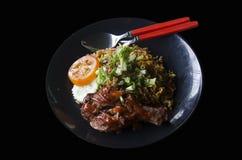 Nasi Lemak food cuisine malaysian style Stock Photo